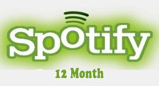 12 Month Premium Spotify Code